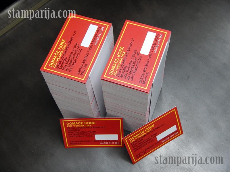 etikete i deklaracije, stampanje deklaracija, izrada etiketa, digitalna stampa deklaracija, samolepive deklaracije, kolorne etikete
