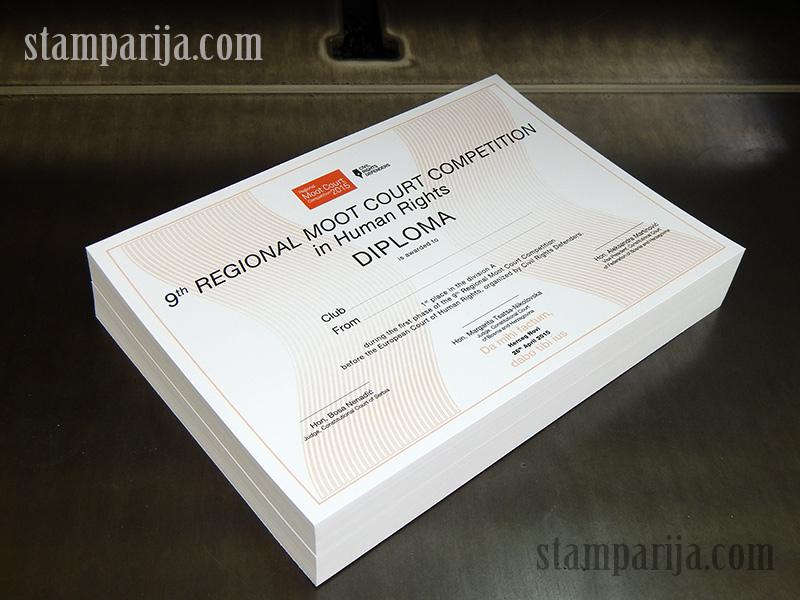 diplome, zahvalnice, sertifikati stampanje diploma i sertifikata