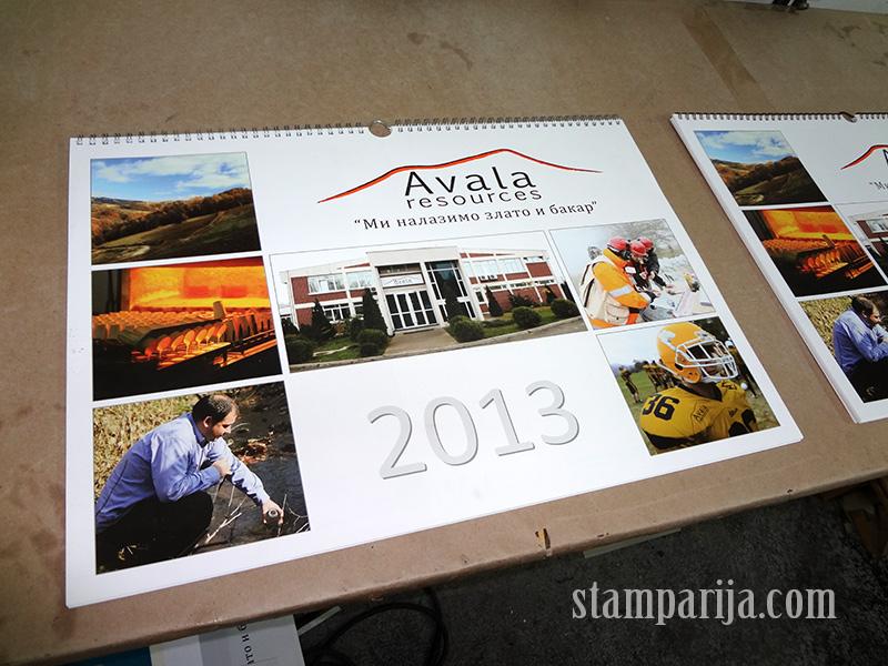 Stampanje kalendara, izrada kalendara, stoni, zidni, dzepni, dizajn i priprema za stampu kalendara