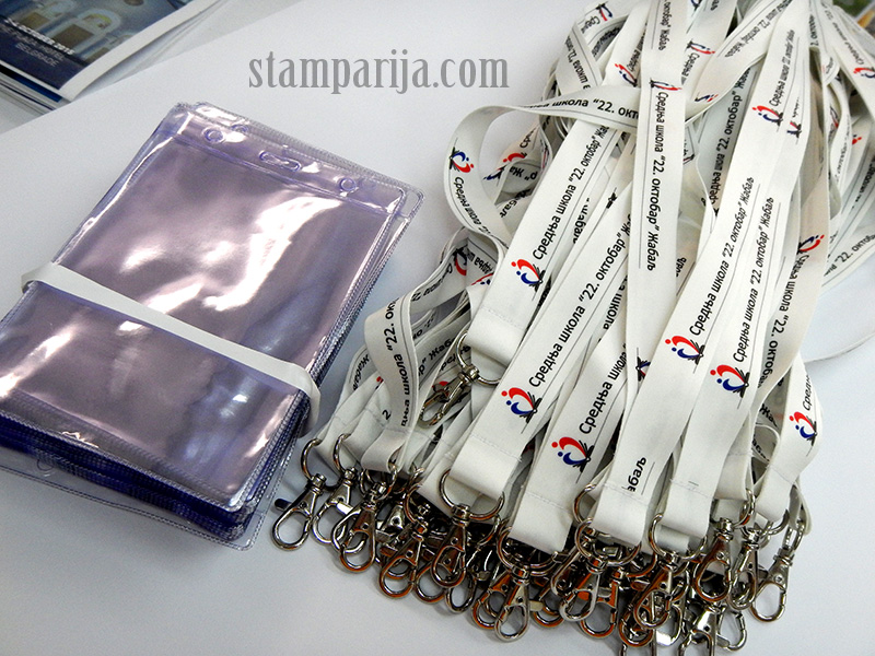 izrada okovratnih trakica,stampanje trakica, trakice za akreditacije, trakice za medalje