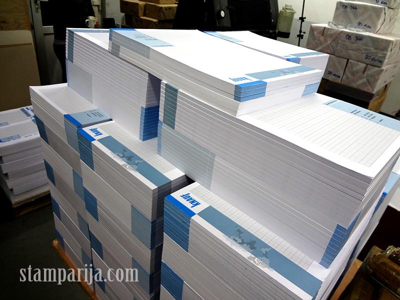 reklamni blokovi, stampanje blokova, blokovi A4, blokovi A6, blokovi sa spiralom,
