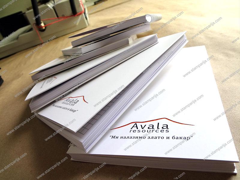 stampanje svesaka, izrada svesaka, stampanje rokovnika, izrada rokovnika, sveske A5, sveske A4, sveske sa tvrdim koricama